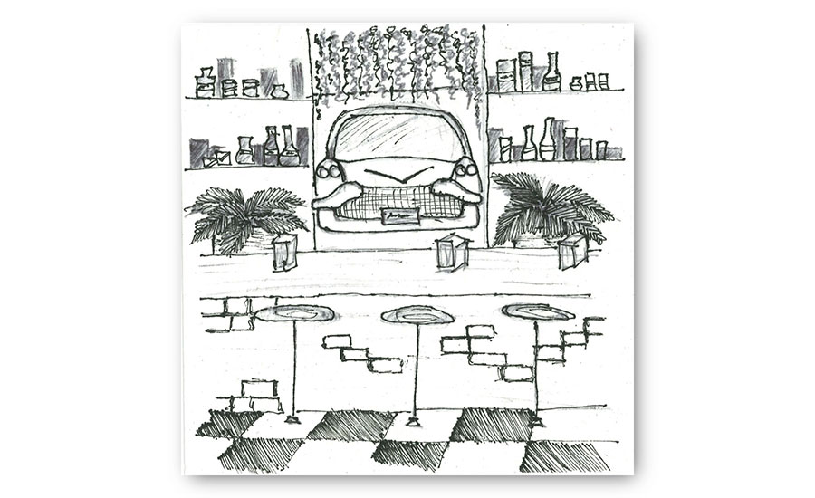 Notable Student Entries to the 2019 Cocktail Napkin Sketch Contest