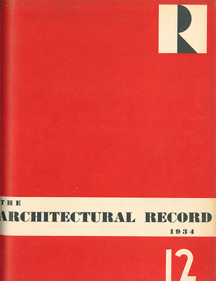 Architectural Record December 1934