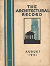 Architectural Record August 1931