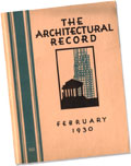 1930 Architectural Record cover