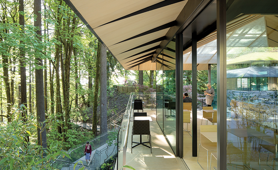 Portland japanese garden cultural village by kengo kuma for Building a house in portland oregon