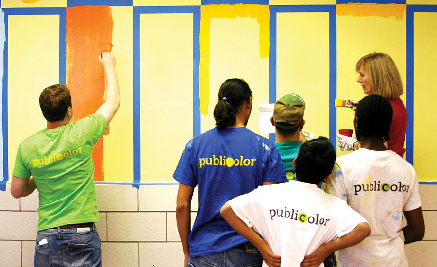 Public School Students Empowered by Painting