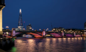 Illuminated River in London
