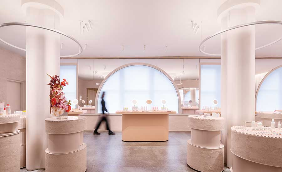 Glossier Flagship Store by PRO and Gachot Studios