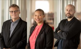 Arup director Brian Stacy, HOK principal Kimberly Dowdell, and CookFox associate Arno Adkins.