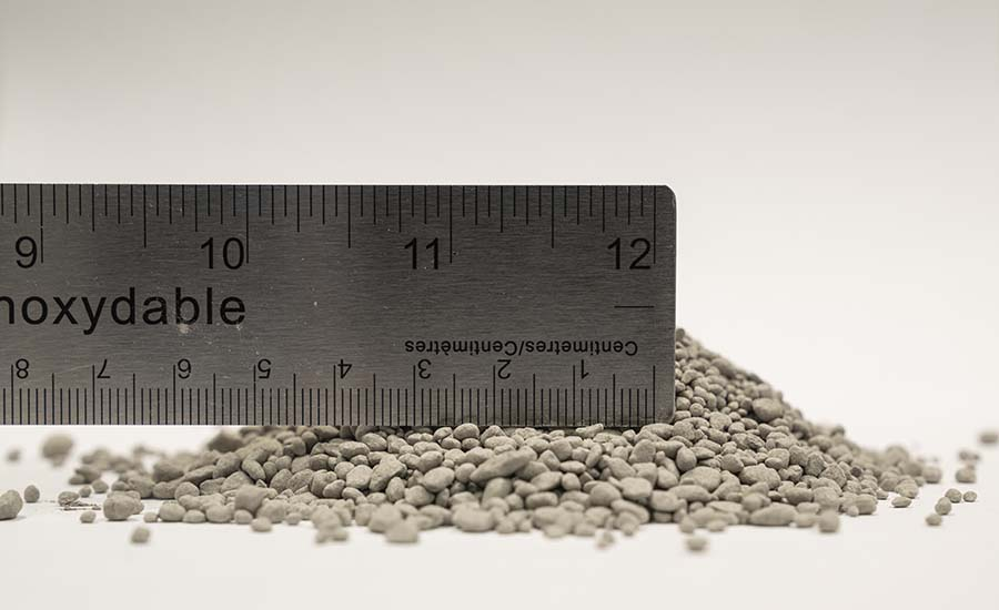 Granulated cement.