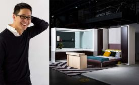 Architect Michael K. Chen (left) designed Micro Living a concept apartment (right) for manufacturer Häfele America.