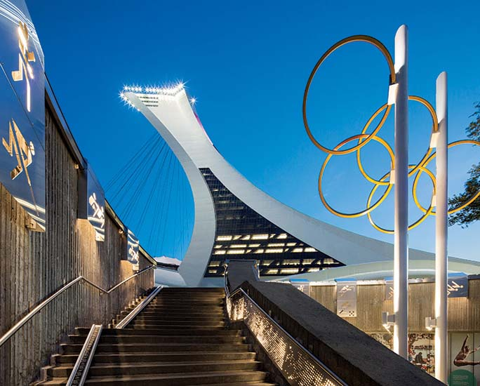 Montreal Olympic Tower.