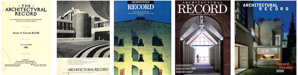 Architectural Record classic covers.
