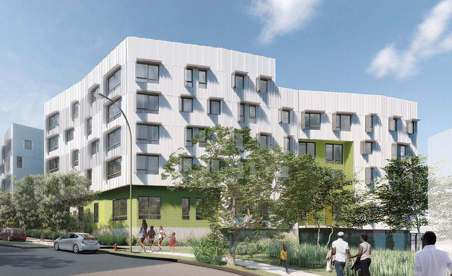 David Baker Architects' affordable housing project.