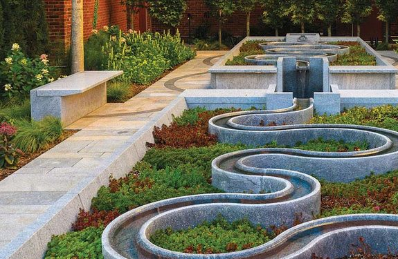 The Peabody Essex Museum's central garden.