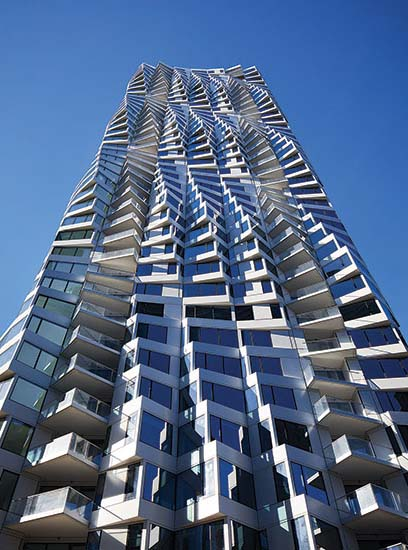 Studio Gang's twisting new 39-story Mira residential tower.