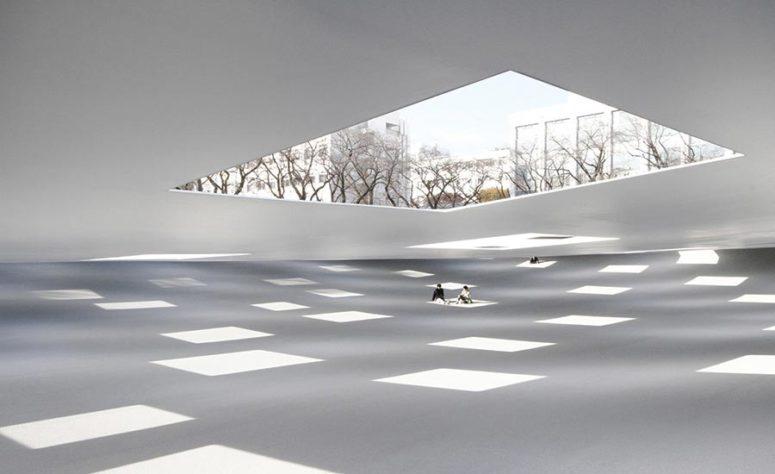 The Plaza at Kanagawa Institute of Technology.