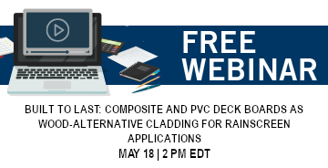 Composite and PVC Deck Boards - Free Fortress Webinar - May 18, 2021 - 2:00 PM EDT