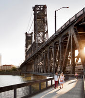 The Steel Bridge, Willamette River, Portland, Oregon