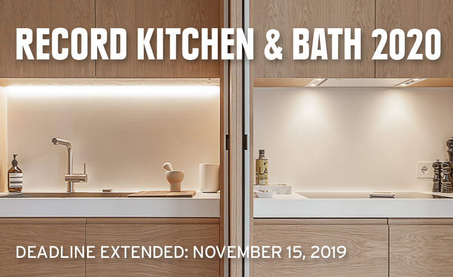 Enter RECORD's 2020 Kitchen & Bath Competition