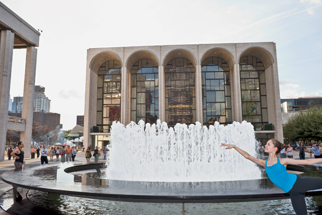 Built in a then-rough area of the city, Lincoln Center was a travertine fortress raised on a plinth when it opened in the 1960s. Patrons accessed performance halls via parking garages tucked safely be