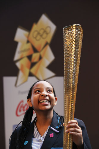 The 2012 Olympic torch was designed by the British team of Edward Barber and Jay Osgerby.