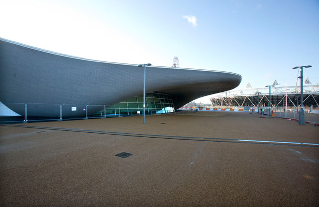 The large wings on either side of Zaha Hadid's Aquatics Centre, which now house seating for spectators, will be removed after the games.