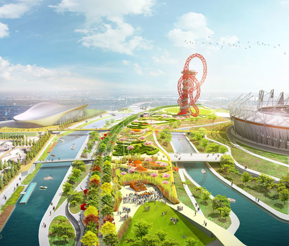 Post-Games plans for the park grounds include a cable car link to downtown London and a series of public green spaces.