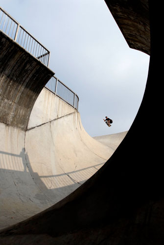 The vert ramp, a form of half pipe, is 52 meters long, possibly the longest in the world.