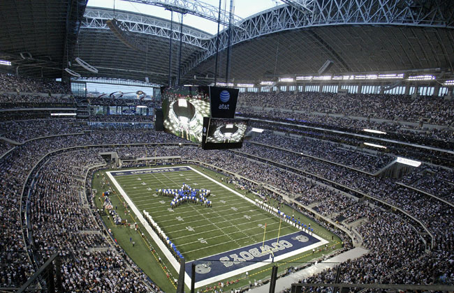 Largest-capacity retractable-roof stadium, 80,000 seating capacity; 110,000 including standing room. Completed in 2009 at a cost of $1.15 billion, the stadium is the home of the National Football Leag