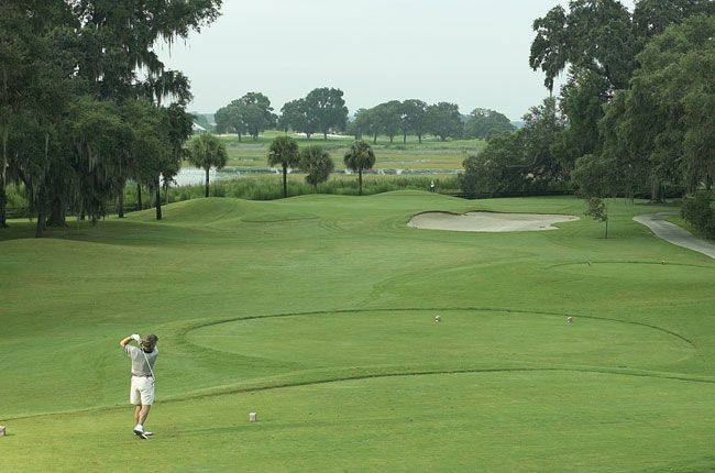 Largest golf complex, 531 holes of golf. The Villages is a retirement community in central Florida, population 92,000, about 45 miles northwest of Orlando. Founded in 1983, the community encompasses 4