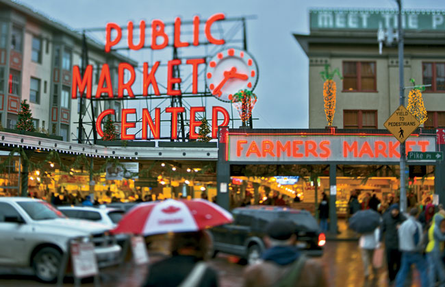 Like a postcard view of Seattle's Pike Place Market, places for buying, selling, and consuming food form the identity of a city.<br><br><strong>Sound Bite</strong><br><em>Ruth Reichl, food critic and