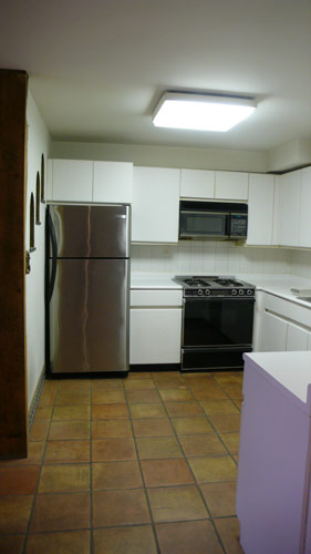 Before photo: Kitchen prior to renovation of East 12th Street apartment