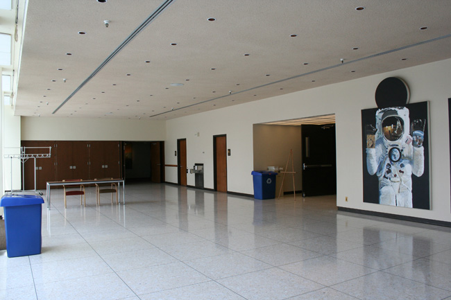 First floor of Building 224 before renovation.