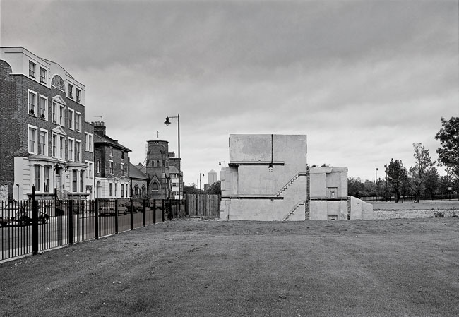 Rachel Whiteread's <em>House</em>, 1993, presented a ghostly cast of the inside of a demolished London home on a block razed for redevelopment.