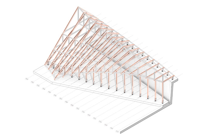 Roof trusses.