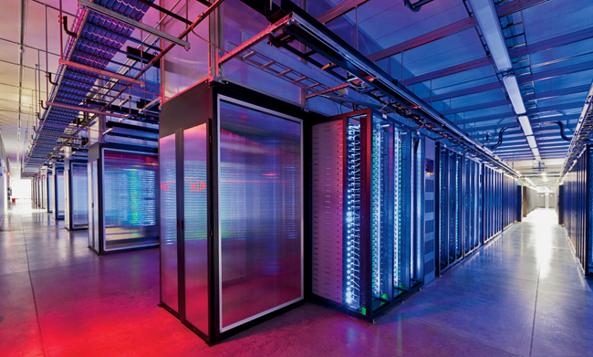 The overall form of the building is designed around the layout of servers in their racks in rows. The length of the rows is, in turn, based on the most efficient airflow through them.