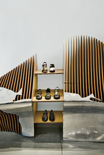 Barcelona-based Italian architect Benedetta Tagliabue designed three Camper stores in fairly quick succession: Seville opened in 2009, Barcelona in 2010, and Washington, D.C., in 2011. Inspired by the