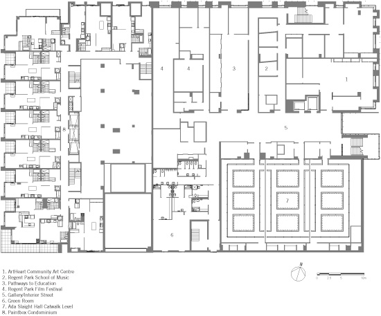 Second Floor Plan<p><a href='/features/GDGB/2014/images/Daniels-Spectrum-Diamond-Schmitt-Architects-9_lg.jpg' target='_blank'><strong>Click here</strong></a> to view a large drawing.</p>
