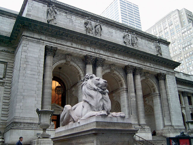 Controversy over the New York Public Library's main branch at 42nd Street.