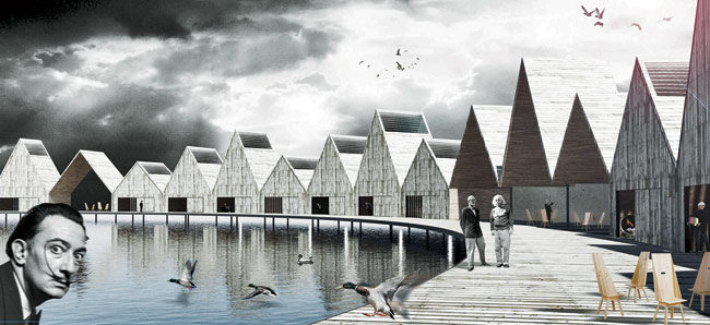 "In 2012, architects Paul Dieterlen, Jorge Ruiz Boluda, and Agustín Durá Herrero envisioned a motley crew of guests for an ""Inspiration Hotel"" conceptual design competition in Spa"