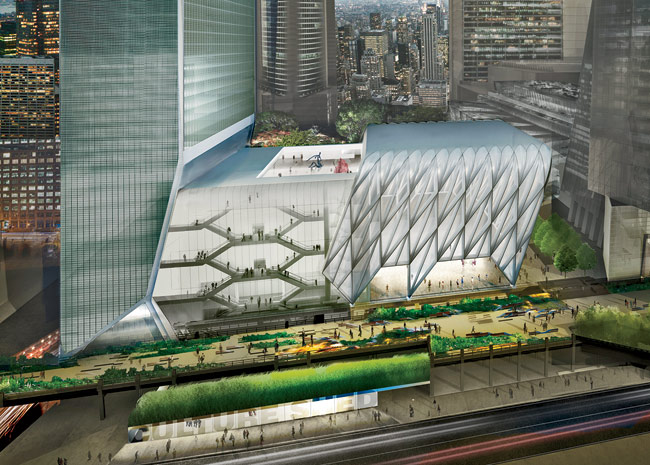The Culture Shed, a 170,000-square-foot arts institution planned for Hudson Yards on Manhattan's West Side, was designed by Diller Scofidio + Renfro in collaboration with Rockwell Gr