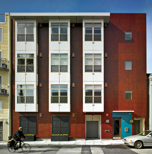 Geared to young professionals, micro-apartment building 38 Harriet Street in San Francisco by Trachtenberg Architects includes 23 350-square-foot units.