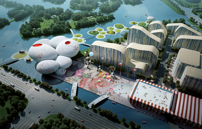 China Comic and Animation Museum in Hangzhou by MVRDV.