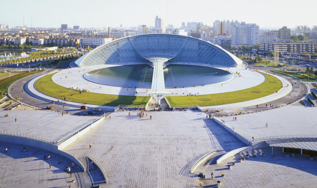 Tianjin Museum in Tianjin by Shin Takamatsu Architect & Associates with Kawaguchi & Engineers.
