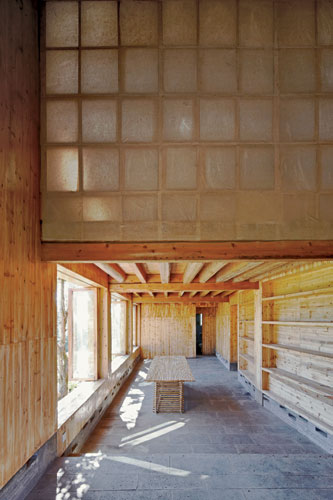 TAO designed this museum in Yunnan province as a cluster of volumes, echoing the ad hoc pattern of buildings in the adjacent village of Gaoligong. The museum's timber-framed buildings use nail-free su