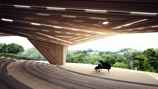 Aranda\Lasch won the competition for this performance and event venue in west central Africa in collaboration with architects Westlake Reed Leskosky and engineers AKT II. The scheme entails renovating