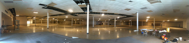 The 96,000-square-foot store's interior before conversion.