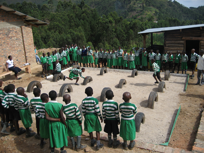 Learning Landscape educational playground system built at the Kutamba School in Uganda (one of 15 worldwide).