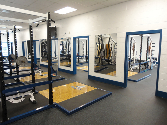 Bertie High School football team weight room renovation.
