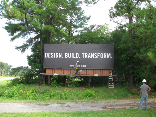 Studio H billboard on US Highway 17 entering Bertie County.