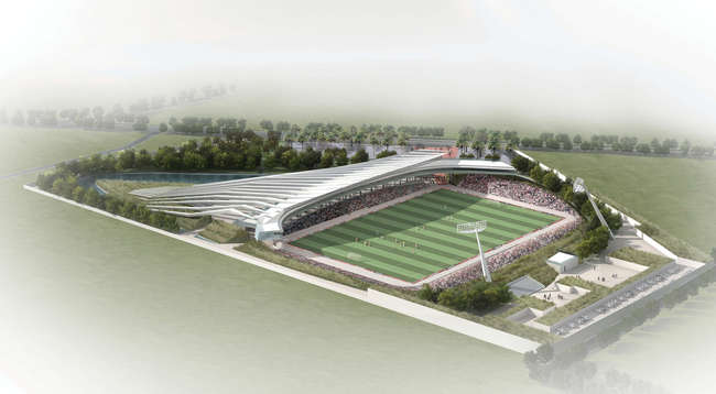 Haitian formation carlos zapata unveils design for new stadium