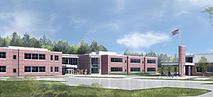 HMFH Architects has designed the new school. Construction has begun.