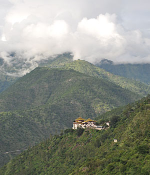 The Trashigang Dzong fortress in Bhutan.